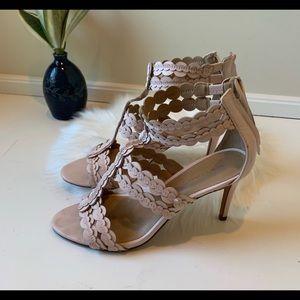 Light pink scalloped Banana Republic heels